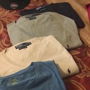 Men's Polo V-Neck Sweaters
